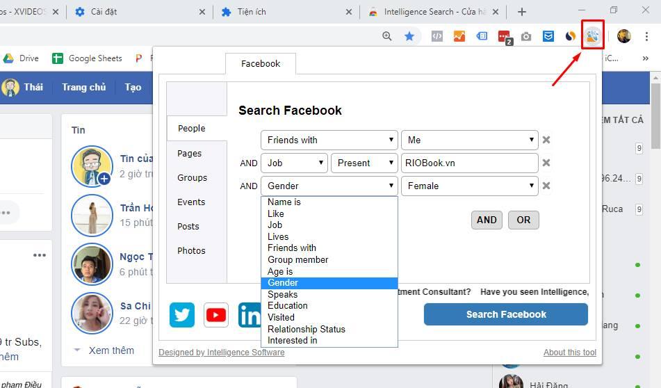 công cụ tìm kiếm Facebook