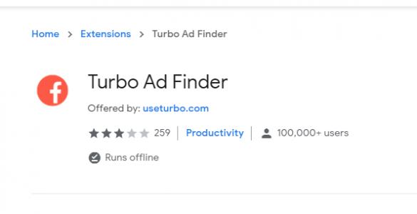 Hướng dẫn sử dụng Turbo Ad Finder để hóng quảng cáo Facebook