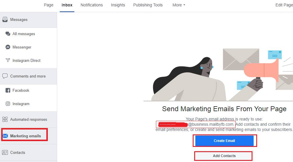 nhúng facebook lên email marketing